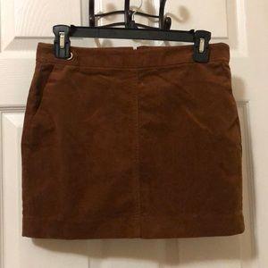 Banana Republic NWOT brown corduroy skirt size 4P
